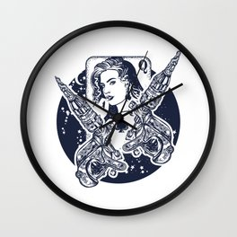 Queen playing card Wall Clock