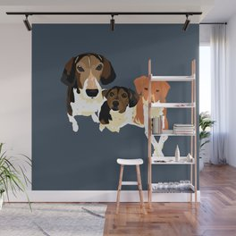 Henry, Daisy and Dory Wall Mural