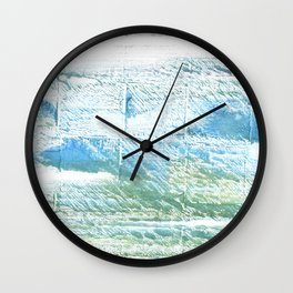 Mint cream abstract watercolor Wall Clock