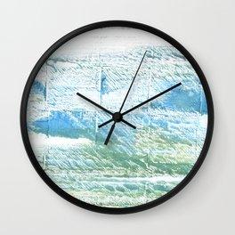 Mint cream abstract watercolor Wall Clock