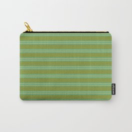 baby poo + mint stripes Carry-All Pouch