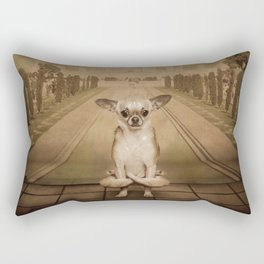 Chihuahua the Yoga Doga Dog Rectangular Pillow