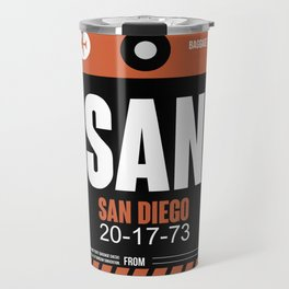 SAN San Diego Luggage Tag 3 Travel Mug
