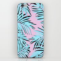 palm tree iPhone & iPod Skins featuring Palm tree by Hanna Kastl-Lungberg