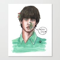 jake Canvas Prints featuring Jake by The vintage icon