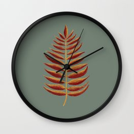 Gold and Copper Palm Leaf Wall Clock