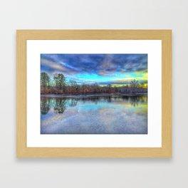 Winter at Caleb Smith Framed Art Print