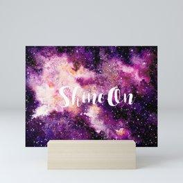 Shine On Galaxy in Purple Mini Art Print