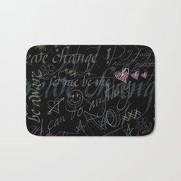 On the blackboard Bath Mat
