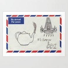 A Parisian, British Tea Art Print