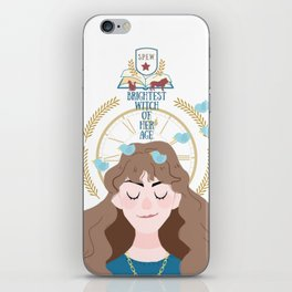 Brightest Witch of her Age iPhone Skin