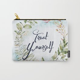 Treat yourself -marble Carry-All Pouch