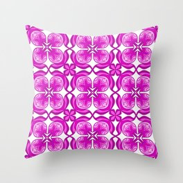 Purple Petals Shades of Purple and Pink Four Petals Fancy Spirit Organic Throw Pillow