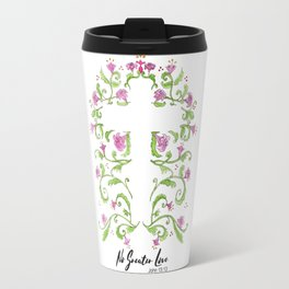 No Greater Love Floral Cross Travel Mug