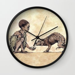 Boy and Puppy Wall Clock