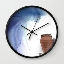 Blue Magic Pot Wall Clock