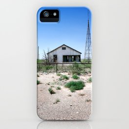 Somewhere on the Old Pecos Highway #4 iPhone Case