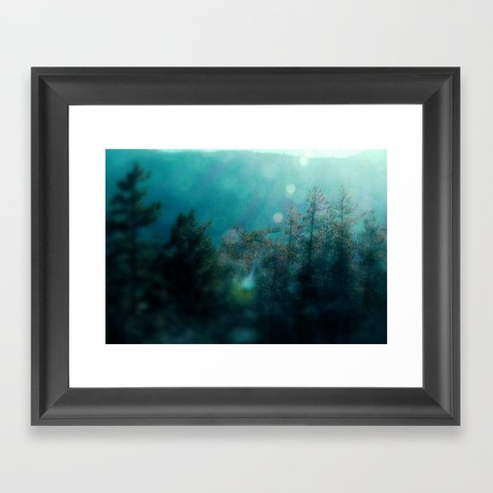 Forest-Blue Framed Art Print