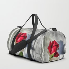 Red Rose Bud Shadow Duffle Bag