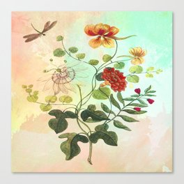 Simply Divine, Vintage Botanical Illustration Canvas Print