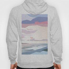 Cartoon sunset seashore in minimalism Hoody