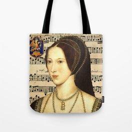 Musical Queen Anne Boleyn Tote Bag