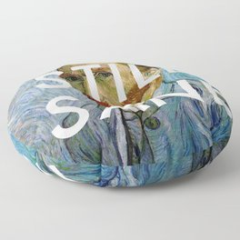 van Gogh is Still Sane Floor Pillow