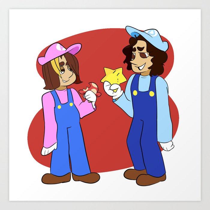 Game Grumps Mario Crossover Art Print By Melaniefelony