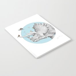 Triceratops and Birdies Notebook