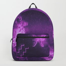 Astrological zodiac signs horoscope circle. Abstract night sky background Backpack