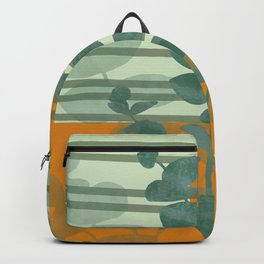 Eucalyptus stripes pattern orange #society6 #sun Backpack