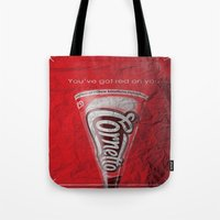 shaun of the dead Tote Bags featuring Shaun of the Dead by bergertime
