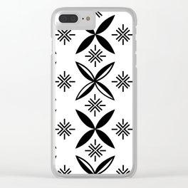 UrbanNesian Black Siapo Clear iPhone Case