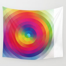 Color Sprial Wall Tapestry