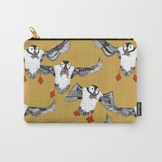 Atlantic Puffins gold Carry-All Pouch