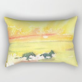 splash of sun Rectangular Pillow