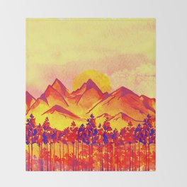 Landscape #05 Throw Blanket