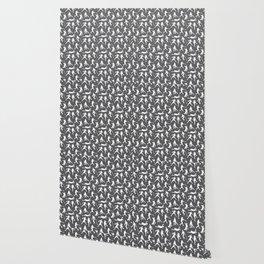 Baseball Players // Charcoal Wallpaper
