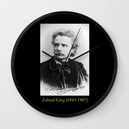 Elliot and Fry - Portrait of Grieg Wall Clock