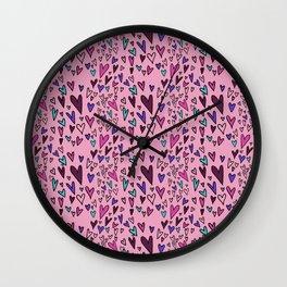 Wild Hearts Wall Clock