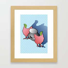 Chickens love Top Hats Framed Art Print