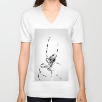 spider V-neck T-shirts featuring Spider by Fine2art