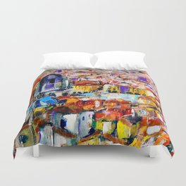 The roofs of Bologna Duvet Cover