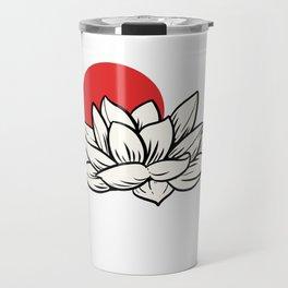 Japan Flag Flower Nature Lover Gift Travel Mug