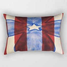 America Red White Blue Cross Rectangular Pillow