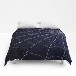 Spiderweb on Midnight Comforters