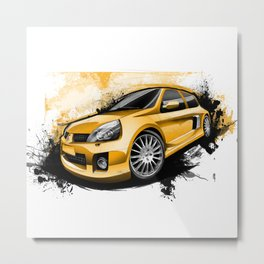 Renault Clio V6 Sport Metal Print
