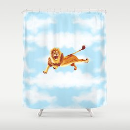 Flyin' Lion Shower Curtain