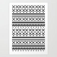 Christmas Jumper Black & White Art Print
