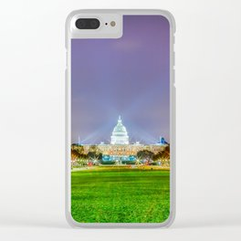 The Capitol Building At Night Clear iPhone Case